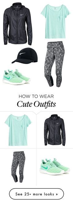 """""""Cute Exercise Outfit"""" by makimo-1 on Polyvore featuring NIKE and H&M"""