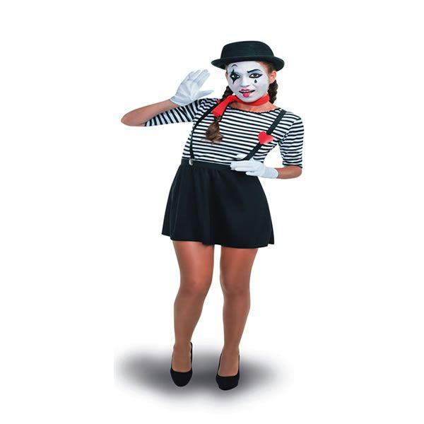 disfraz de mimo mujer