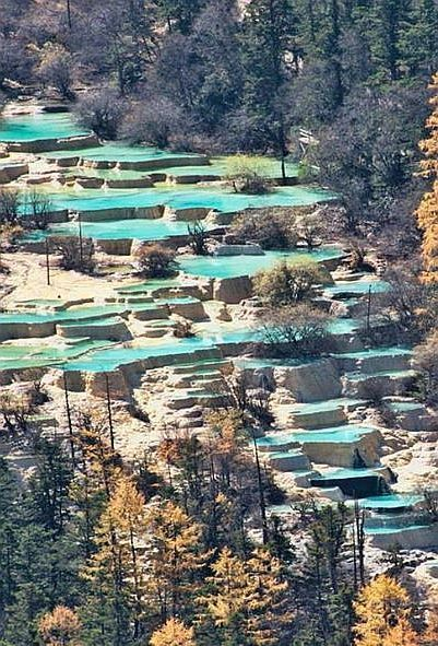 Huanglong Pools, China.