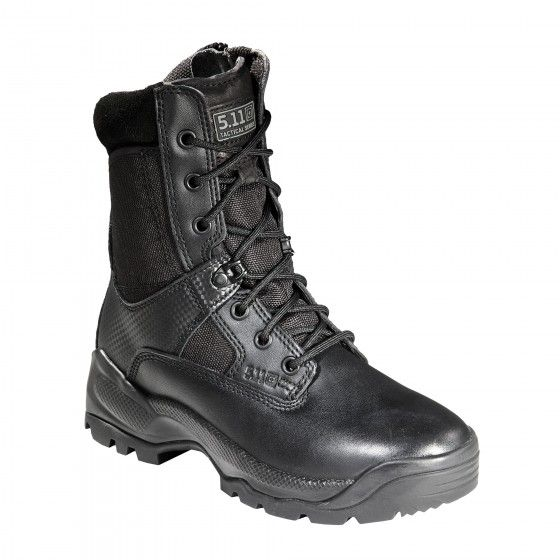 "5.11 Women's A.T.A.C. 8"" Boots  Hands down the best tactical boots for women available on the market, our Women's ATAC 8"" Side Zip Boot was specifically engineered for female law enforcement, military, and tactical operators. Accelerated side zip access allows quick on and off, minimizing prep time and eliminating the need to lace up or down."