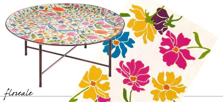 Si ispira ai modelli marocchini il tavolino GF109 di Novità Import: è dotato di un comodo vassoio in metallo smaltato che può essere usato per servire o appoggiato su un cavalletto di metallo brunito. Misura ø 92 x H 40,5 cm