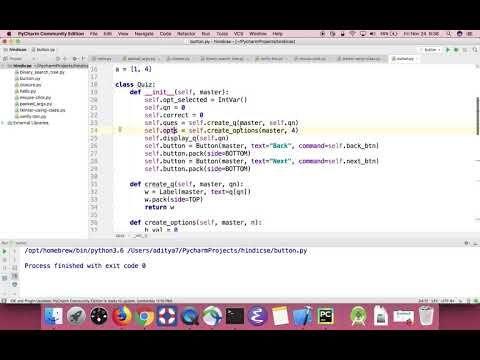 2) Python GUI: Creating a quiz app using tkinter in Hindi