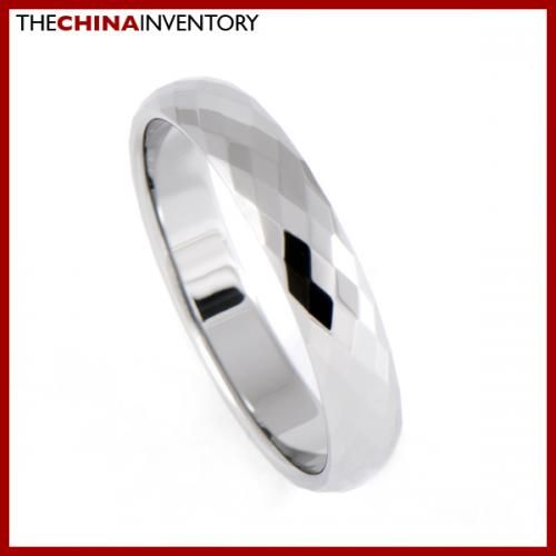 4MM SIZE 11 FACETED TUNGSTEN CARBIDE BAND RING R0909A