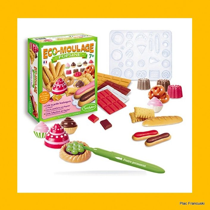 Twój pomysł na prezent EKO-ODLEWY GIPSOWE POPSINE MAŁA PIEKARNIA, SENTOSPHERE kreatywny zestaw dla małych piekarzy. Własnoręcznie wykonane odlewy wypieków będą świetnie urozmaicały zabawę w piekarnię lub w sklep.