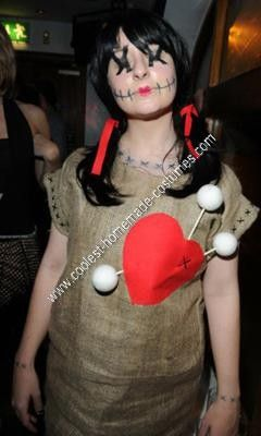 Homemade Voodoo Doll Costume: I love fancy dress and use any opportunity possible to dress up and get create. I never buy my costumes, I like to be original and make my own creations;