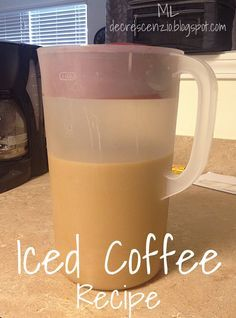 Homemade Starbucks Iced coffee: 10 cups coffee, 1/2 c. sugar, 1/2 c. brown sugar, 1/2 c. vanilla creamer (and milk)