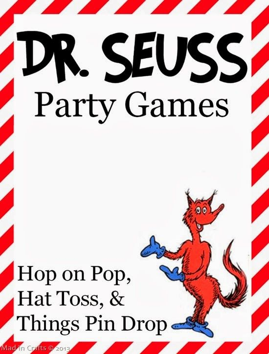 Dr. Seuss Party Games - Mad in Crafts