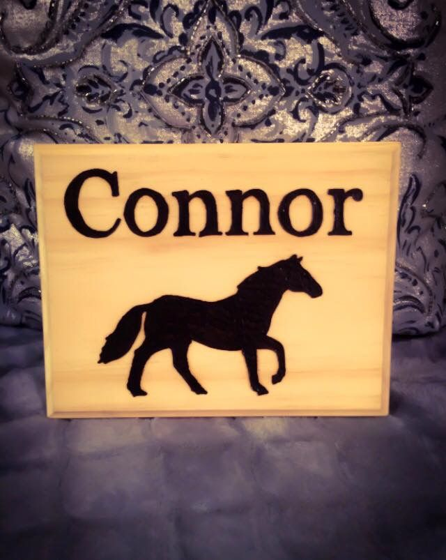 Shop for this and more custom engraved equestrian products including brushes, grooming totes, tack nameplates, stall signs and more at www.etsy.com/shop/horsehopes