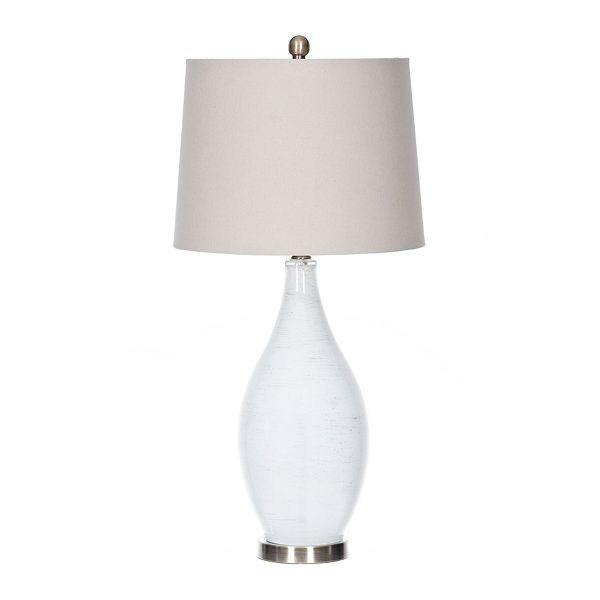 Frosted Glass And Brass Nora Table Lamp Kirklands Clear Glass Table Lamp Metal Floor Lamps Floor Lamp Grey