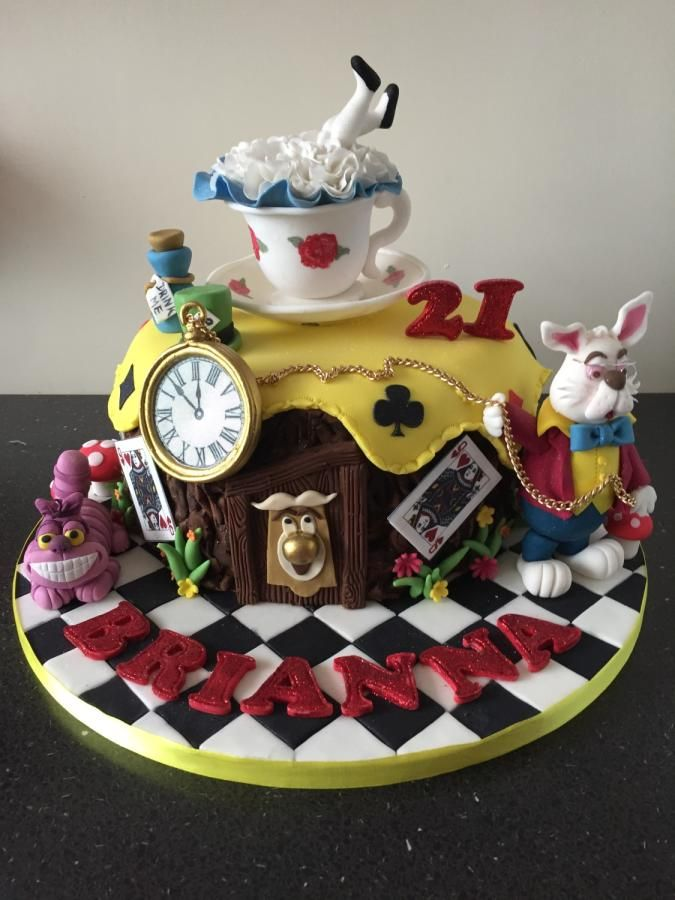 how to make an alice in wonderland cake