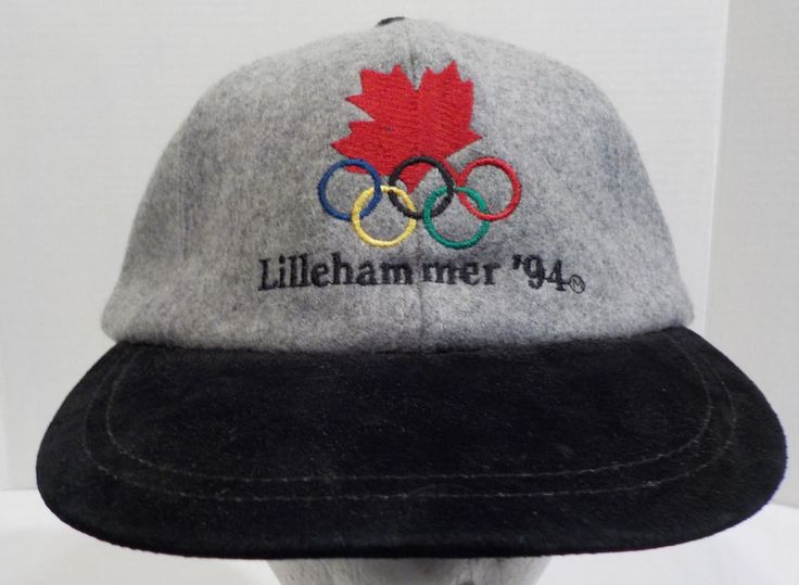 Vintage 1994 Lilleyhammer Canadian Olympic Baseball Truckers Cap Hat 1 Size Fits All Dark Blue by LouisandRileys on Etsy
