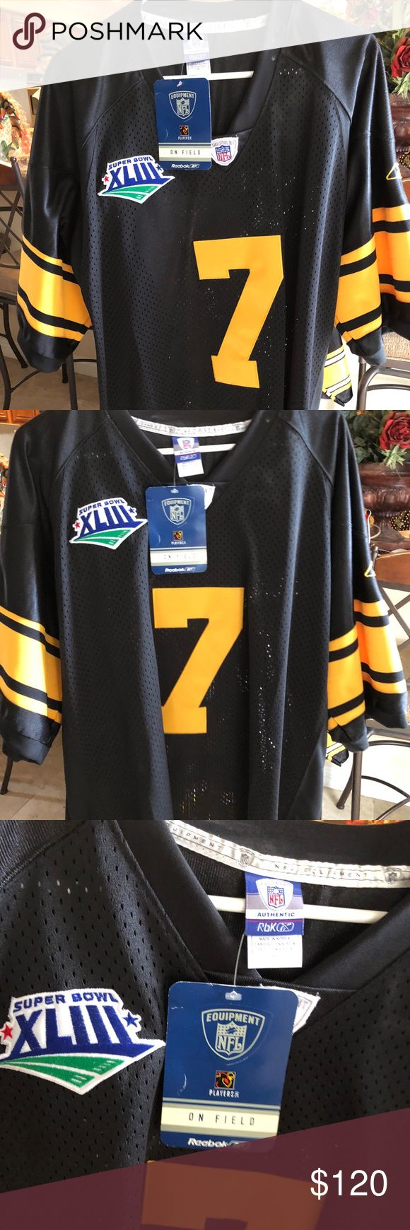 Big Ben Super Bowl 43 jersey Great condition never worn new with tags Reebok Other