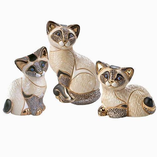 Siamese Cat Family Figurine Set | De Rosa Collection