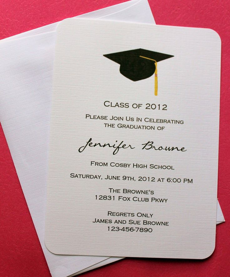 Monogram Graduation Invitation Black And Gold Graduation