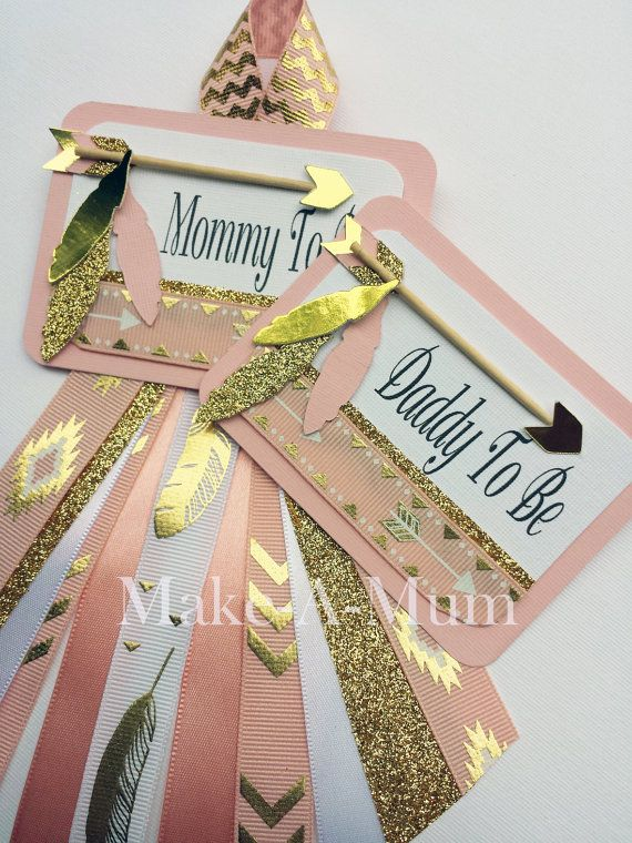 Tribal Baby Shower corsage Set Mommy To BeDaddy To Be by MakeAMum