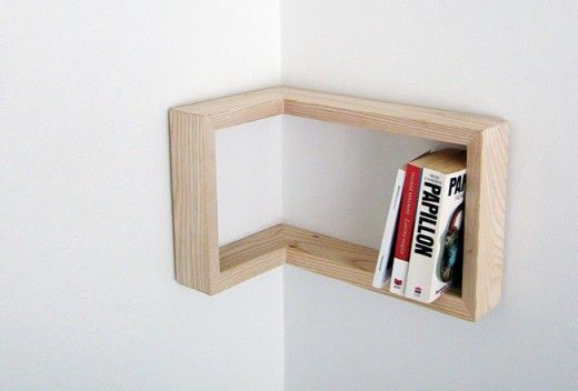 """Kulma"" Corner Shelf by Martina Carpelan"