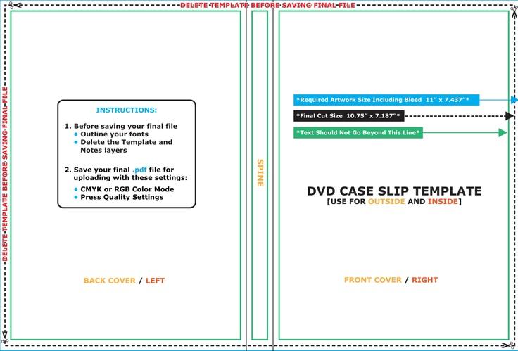 DVD Slip template - AVT 311 - Corporate Campaign - Process Book - slip template