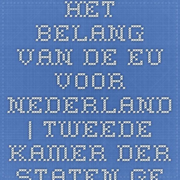 Het belang van de EU voor Nederland