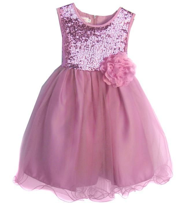 Girls Dusty Rose Tulle Sequin Party Dress Available in Toddler-Youth S – The Christening Cottage