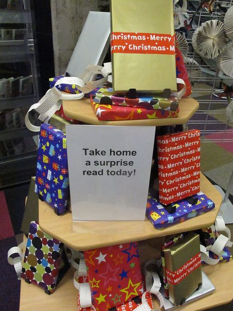 A secret book from secret Santa at your library for FREE!
