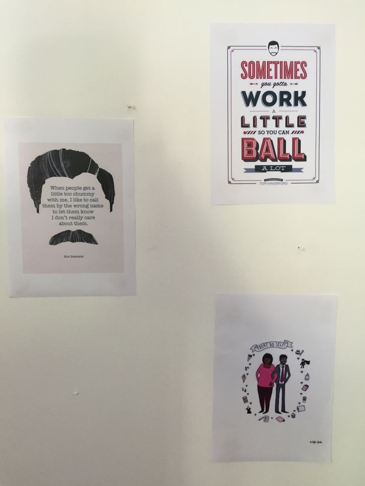 Parks and Recreation Party wall of famous quotes