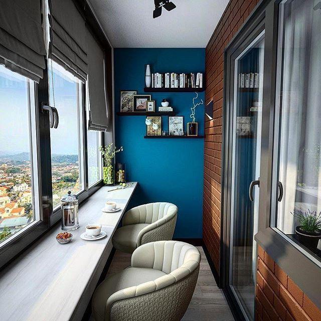 Balcon Cerrado Detalle Para Leer Escribir Dibujar Pintar Tomar Cafe Hasta Desayunar Recamara Pr Oficina En El Hogar Interiores De Casa Diseno De Terraza