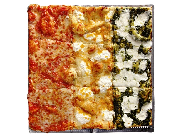 """Joe Squared pizza at Station North is awesome and offers unique """"square"""" shaped pizzas. We can't stop getting the spaghetti & meatball pizza. Ingredients are always fresh (+ they deliver)"""