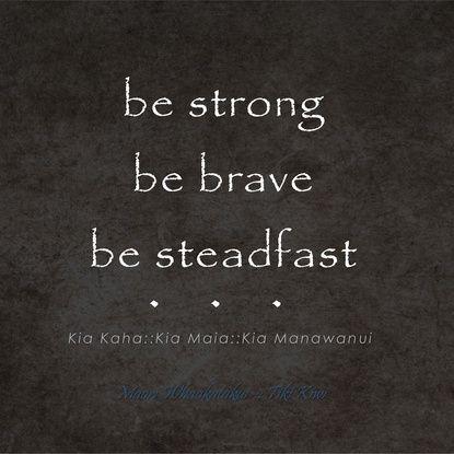 Kia Kaha, Kia Maia, Kia Manawanui - Be Strong, Be Brave, Be Steadfast - Maori Wisdom in Charcoal  Art Print. www.society6.com/tikikiwi