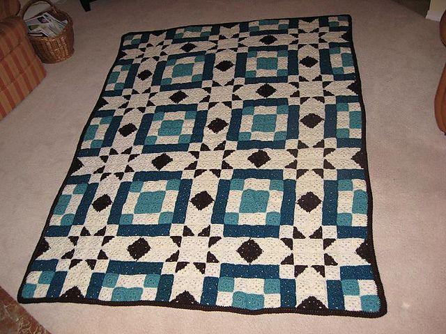"Free pattern for ""Blackford's Beauty Crochet Quilt""...pattern by C.L. Halvorson!"