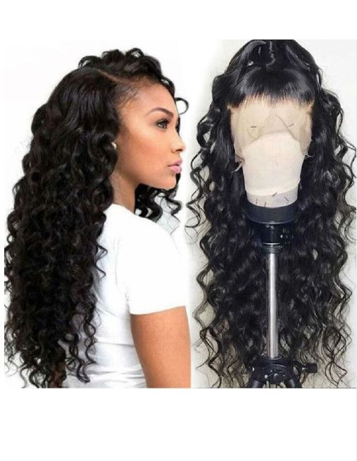 Beautiful long wavy wigs for black women lace front wigs human hair wigs  african american wigs f1610a48c5