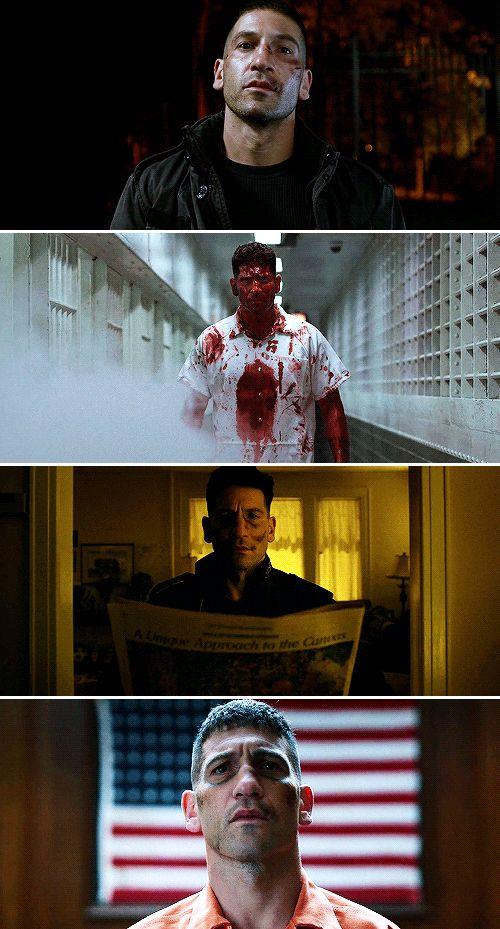"""""""Sabe as pessoas que eu matei? Eu matei e mataria novamente! Porque eu gosto.""""              - Frank Castle."""