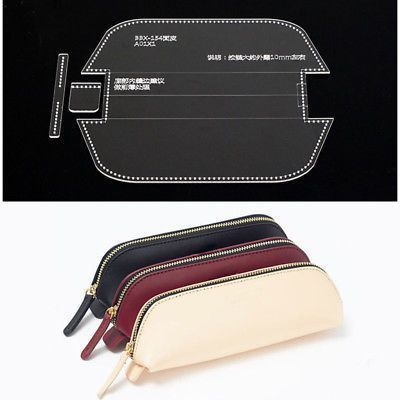 Details about Acrylic pen case pencil bag Template Leather craft Pattern model s…  – Bags and Purses