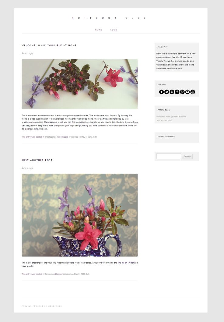 'Like Blogger': A Free WordPress theme Twenty Twelve customization