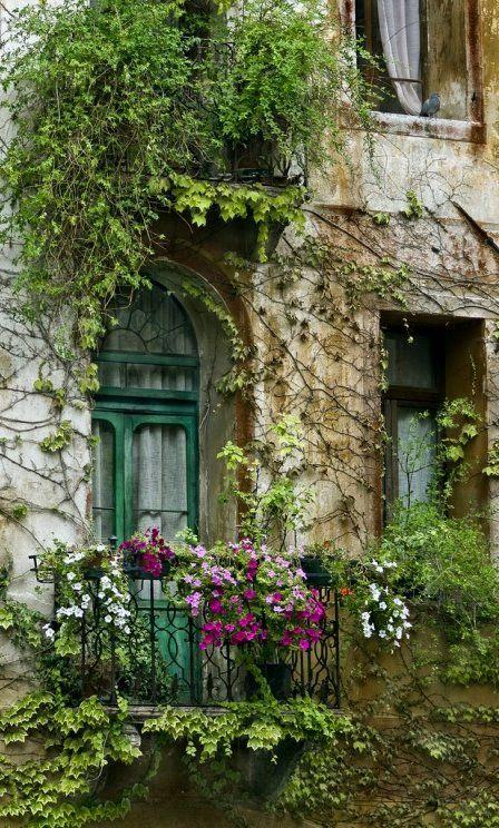 Flowered Balcony.. Paris, France