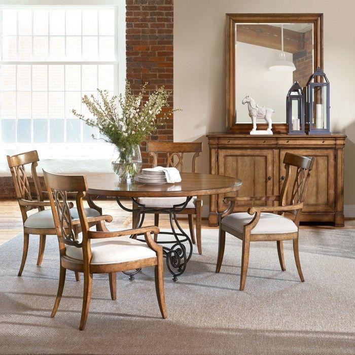 Bernhardt Bon Maison 328 556 Armchairs In Almond Finish Same As Table