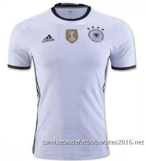 Comprar replicas camisetas de fútbol baratas 2016 : Camiseta de fútbol baratas Alemania 2016 Europa