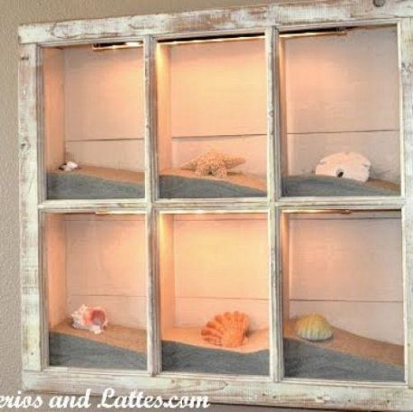 This would be really great to put sand and shells from different beaches you visit in each separate pane.