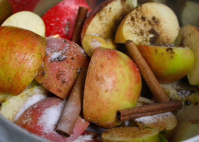 #paleo Homemade Primal Apple Cider: 5-6 large apples; 4 cinnamon sticks (plus a few more for garnishing); 1 inch chunk of ginger;   1 tsp ground nutmeg; 1 Tbsp. ground cloves; 2 T raw honey or pure maple syrup;   many cups of water (to cover apples)