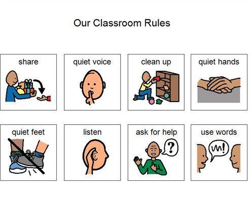 Boardmaker Achieve class rules | Autism Classroom | Pinterest
