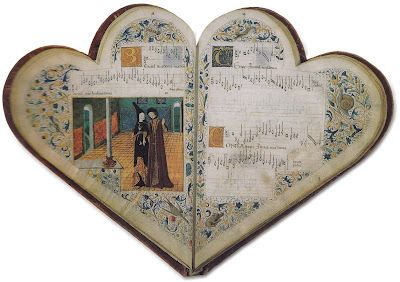 French medieval song book, c. 1475.