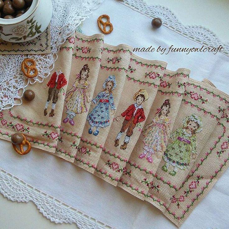 Victorian children cross stitch