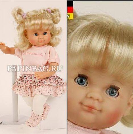 """Новое поступление юбилейных кукол Schildkrot! Кукла """"Schildkrot Schlummerle"""", 32 см, юбилейный выпуск Очаровательная девочка в стильном наряде из хлопка, посвящена 50-летию выпуска этих кукол.  Эта модель выпускается с 1965 года, менялись только наряды, в соответствии с модой. За это время куклы Schildkrot Schlummerle завоевали симпатии нескольких поколений.Прекрасный подарок девочке на день рождения и просто по случаю!  http://www.papinbag.ru/?m=5639"""