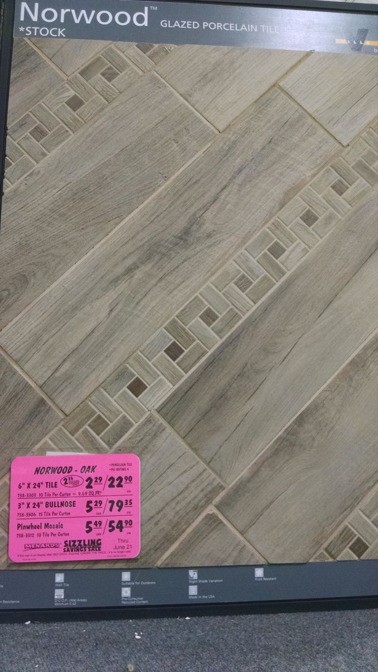 bathroom floor tile Menards Tile floor, Tiles, Flooring