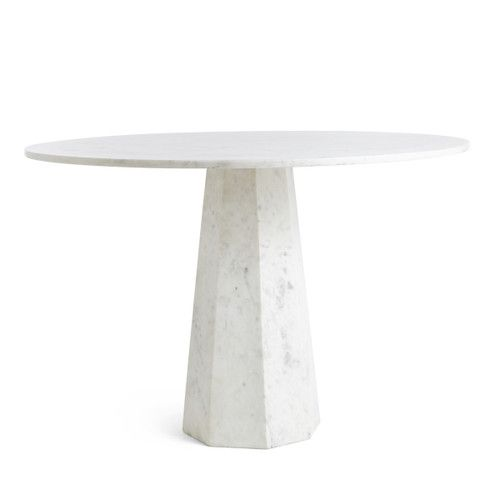 Faceted Marble Table