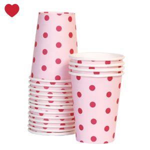 papieren bekers roze rood Nieuw in de shop zijn deze schattige en stijlvolle papieren bekers roze rood van Paper Eskimo uit Australië. Op zoek naar bijpassende feest en sweet table artikelen, klik hier voor ons volledige