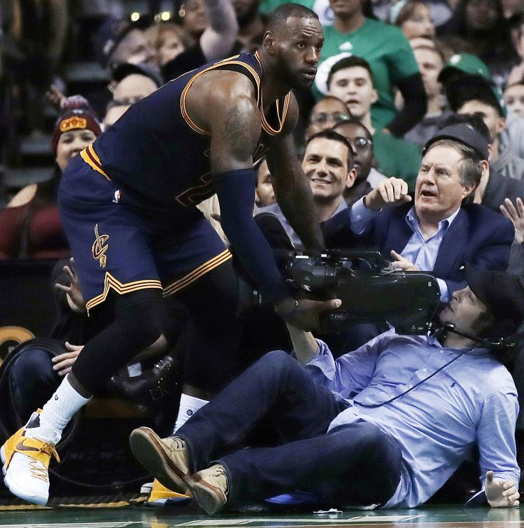 LeBron James nearly crashes into Bill Belichick during the Cavaliers-Celtics game [Video] #la #losangeles #sports