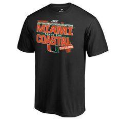 Men's Fanatics Branded Black Miami Hurricanes 2017 ACC Coastal Football Division Champions T-Shirt