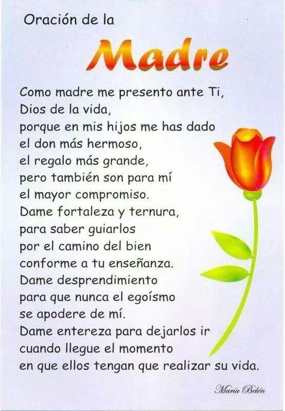 Oracion de una madre.