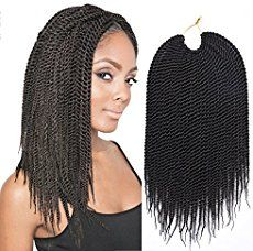 Havana Mambo Twist Braid (buy it here) Big Wavy Curls – if you like this type of crochet you can buy it here or if you want lesser curls you can try these types of crochet 1, 2 Gorgeous Brazilian Curls – if you like this type of crochet you can buy it here Fluffy …