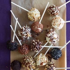 Angel Food Cake Pops   MyRecipes.com These adorable Angel Food Cake Pops are a hit with kids and at parties. You can get creative with toppings and experiment! Find lollipop sticks at craft stores and at Wilton.com.